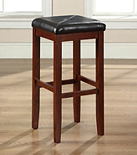 Crosley Furniture Set of 2 Upholstered Square Seat Bar Stools