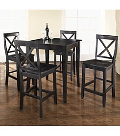 Crosley Furniture 5-pc. Pub Dining Set with Cabriole Leg & X-Back Stools