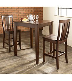 Crosley Furniture 3-pc. Pub Dining Set with Tapered Leg & Shield Back Stools