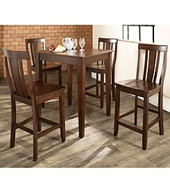 Crosley Furniture 5-pc. Pub Dining Set with Tapered Leg & Shield Back Stools