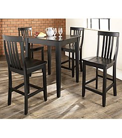 Crosley Furniture 5-pc. Pub Dining Set with Tapered Leg & School House Stools