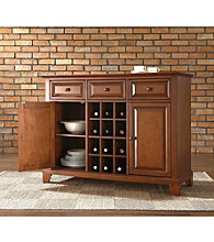 Crosley Furniture Newport Buffet Server with Wine Storage
