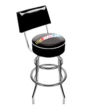 Trademark Global NASCAR® Padded Swivel Bar Stool with Back