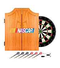 Trademark Global NASCAR® Beveled Wood Dart Cabinet Set