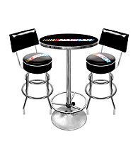 Trademark Global NASCAR® Game Room Combo Table and Backed Stool Set