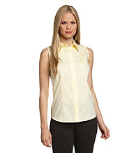 Jones New York Signature® Fitted Button-Front Shirt