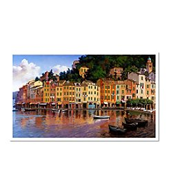 "Trademark Fine Art ""Portofino"" by Hava Signed Giclee Art"