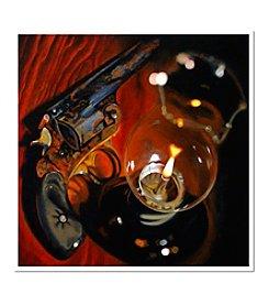 Trademark Fine Art Found Pistol by Roderick Stevens Signed Giclee