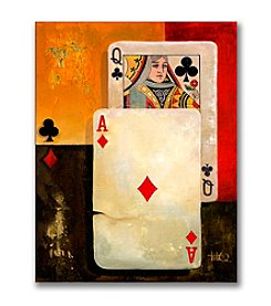 "Trademark Fine Art ""Poker Queen"" Canvas Art"