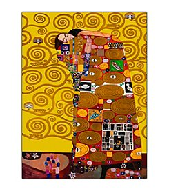"Trademark Fine Art ""Fulfillment"" by Gustav Klimt Framed Canvas Art"
