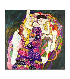 "Trademark Fine Art ""Virgins"" by Gustav Klimt  Canvas Art"