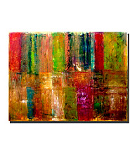 Color Abstract by Michelle Calkins Canvas Art