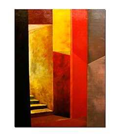 """Mystery Stairway"" by Michelle Calkins Canvas Art"