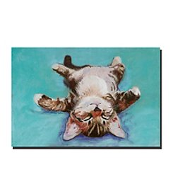 "Trademark Fine Art ""Little Napper"" by Pat Saunders-White Canvas Art"