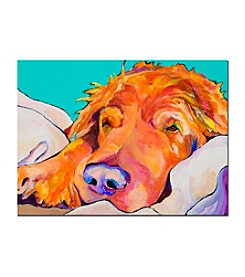 "Trademark Fine Art ""Snoozer King"" by Pat Saunders-White Canvas Art"