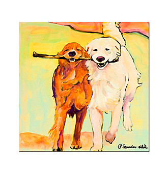 """Stick With Me"" by Pat Saunders-White Canvas Art"