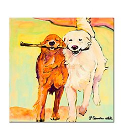 "Trademark Fine Art ""Stick With Me"" by Pat Saunders-White Canvas Art"