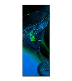 "Trademark Fine Art ""Bluetini"" by Roderick Stevens Canvas Art"