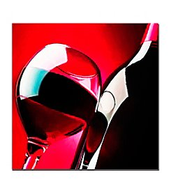 "Trademark Fine Art ""Red Wine"" by Roderick Stevens  Canvas Art"