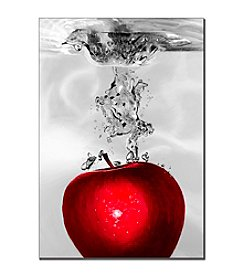 "Trademark Fine Art ""Red Apple Splash"" by Roderick Stevens Canvas Art"