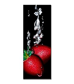 "Trademark Fine Art ""Strawberry Splash"" by Roderick Stevens Canvas Art"