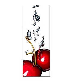 "Trademark Fine Art ""Cherry Splash II "" by Roderick Stevens Canvas Art"