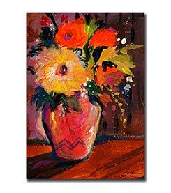 "Trademark Fine Art ""Orange Splash Bouquet"" by Sheila Golden Gallery Wrapped Canvas Art"