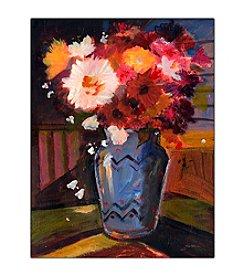 """Trademark Fine Art """"White Flower I"""" by Sheila Golden Framed Canvas Art"""