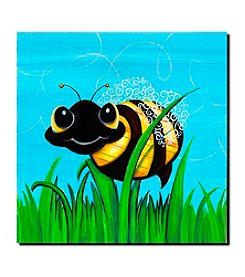 """Bee at Play"" by Sylvia Masek Gallery Wrapped Canvas Art"