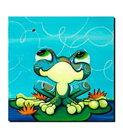 "Trademark Fine Art ""Frog""s Lunch"" by Sylvia Masek Gallery Wrapped"