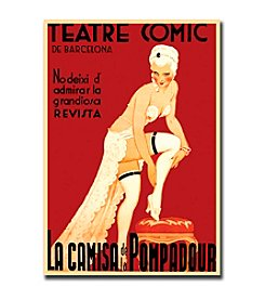 "Trademark Fine Art ""Teatre Comic de Barcelona"" Framed Canvas Art"