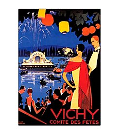 "Trademark Fine Art ""Vichy Comite des Fetes"" by Roger Broders Framed  Canvas Art"