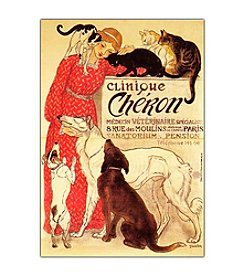"Trademark Fine Art ""Clinique Cheron"" by Theophile A. Steinlen Framed Canvas Art"