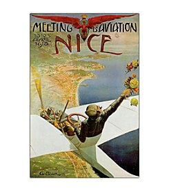 """Meeting Aviation Nice"" by Charles Brosse Framed Canvas Art"