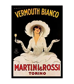 "Trademark Fine Art ""Vermouth Bianco Martini Rossi"" by Marcello Dudovich Canvas Art"
