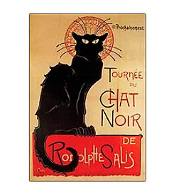 """Tournee du Chat Noir"" by  Theophile A. Steinlen Canvas Art"