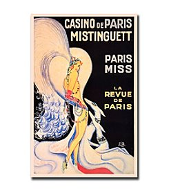 "Trademark Fine Art ""Casino de Paris Mistinguett"" by Louis Gaudin Framed Canvas Art"
