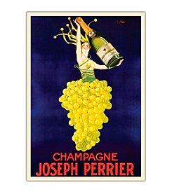 "Trademark Fine Art ""Champagne Joseph Perrier"" Framed Canvas Art"