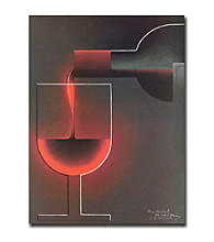 """Trademark Fine Art """"Red Wine"""" Canvas Art"""