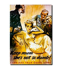 "Trademark Fine Art ""Keep Mum she's not so Dumb"" by Unkown Artist Canvas Art"