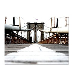 "Trademark Fine Art ""Brooklyn Bridge"" by Yale Gurney Canvas Art"