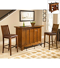 Home Styles® Arts & Craft Distressed Oak Finish 3-pc. Bar Set