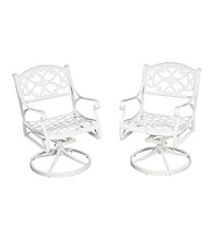 Home Styles® White Finish Biscayne Swivel Chair