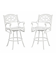 Home Styles® White Finish Biscayne Bistro Stool