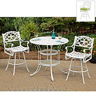 Home Styles® White Finish Biscayne 3-pc. Bistro Set
