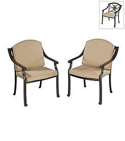 Home Styles® Set of 2 Covington Cushioned Arm Chairs