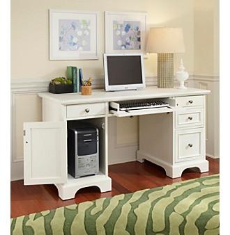 Home Styles® Naples White Finish Pedestal Desk