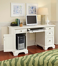 Home Styles® Naples White Finish Pedestal Desk
