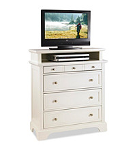 Home Styles® Naples White Finish TV Media Chest
