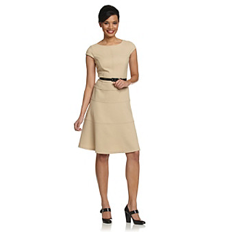 Anne Klein® Limestone Honeycomb Swing Dress
